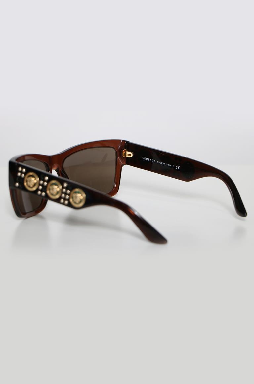 536e4a1bc9a 1  2  3  4  5. Versace. Number  VA009694  Condition Good  Color  Black   Model  Versace 4289 5130 73 Transparent Brown   Gold Frames W  ...