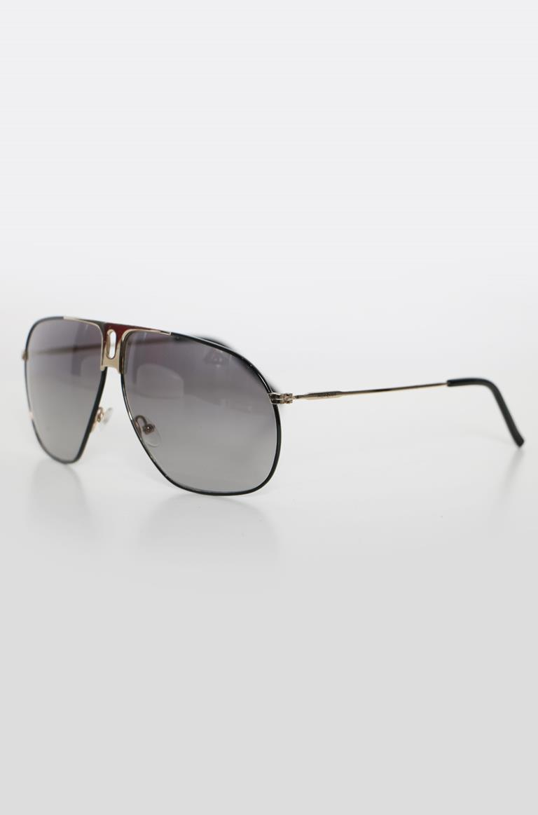 e092c93cd100c 1  2  3  4. Yves Saint Laurent. Number  VA010058  Condition Very Good   Model  Yves Saint Laurent YSL 2117 S Black Silver Aviator Sunglasses ...